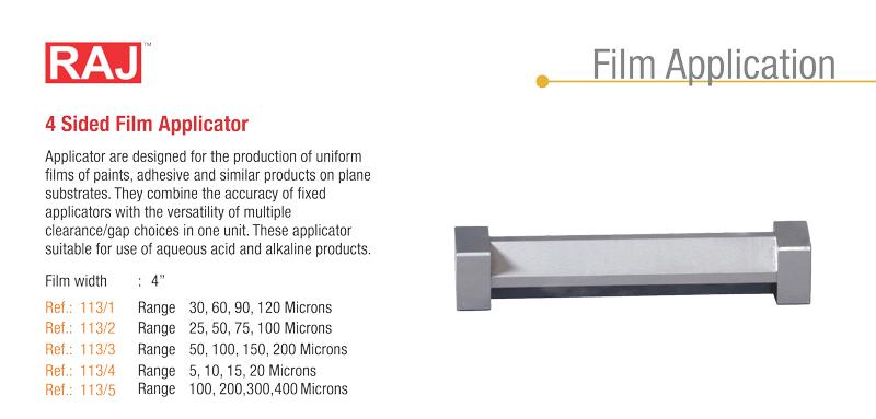 4 side Film Applicator - Raj Scientific Company - Scientific