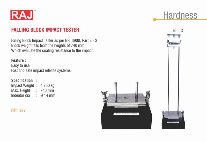 Falling Block Impact Tester