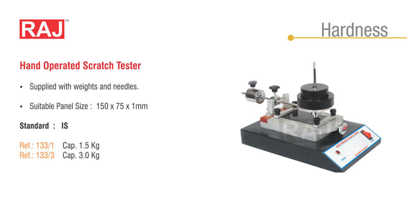 Scratch Tester - Hand Operated